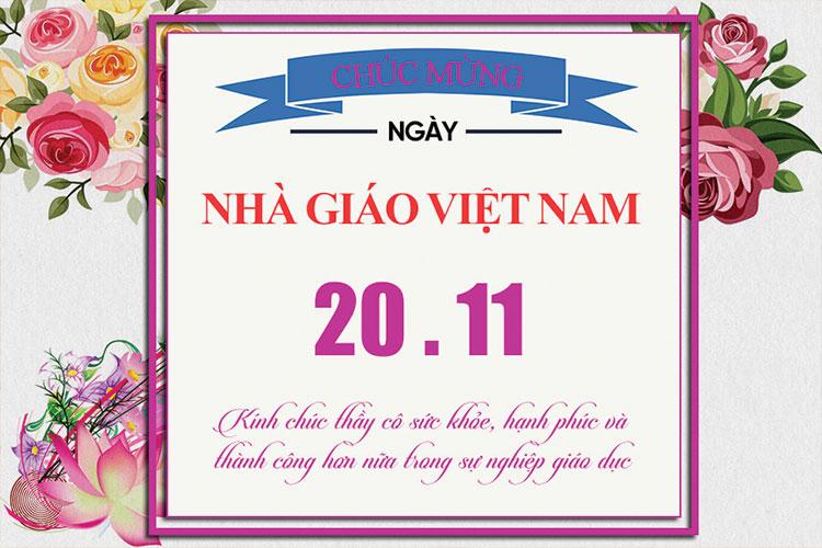 Chia sẻ PSD bộ thiệp mừng ngày nhà giáo Việt Nam 20/11 đẹp và đầy ý nghĩa