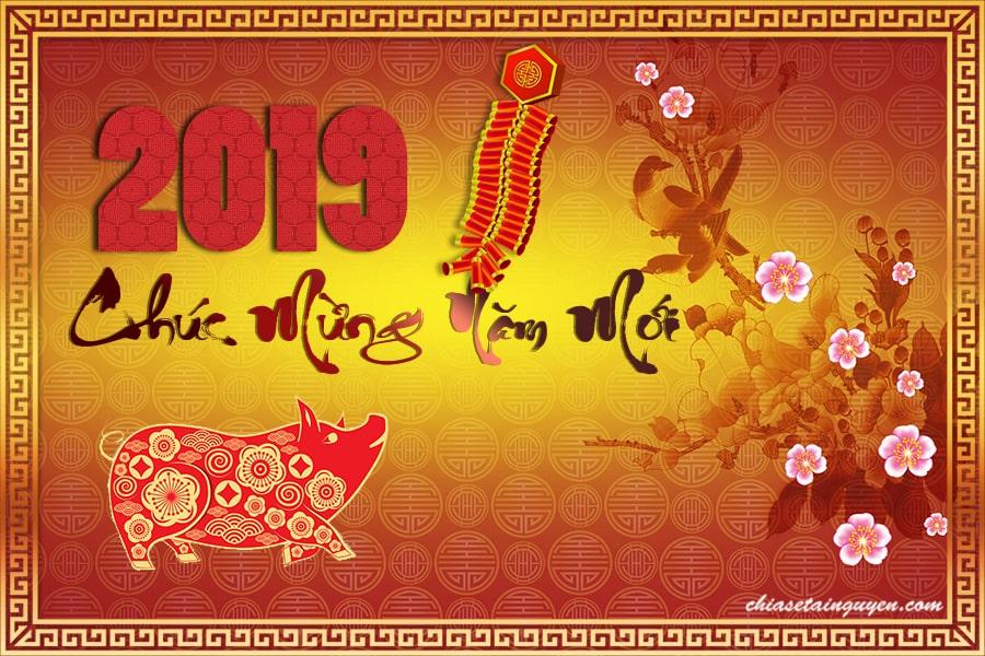 Free Download file PSD thiệp tết 2019 mừng xuân năm mới Kỷ Hợi