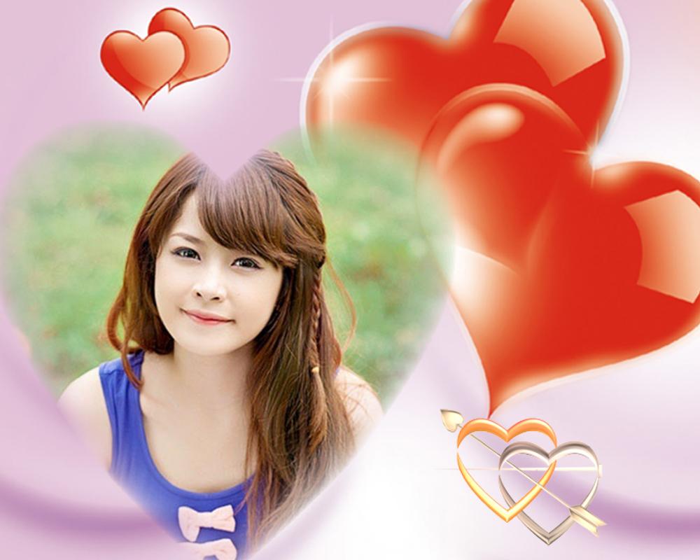 Ghép ảnh trái tim tình yêu đôi