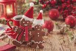 Bộ hình nền món bánh quy gừng Gingerbread giáng sinh
