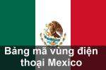 Bảng mã vùng điện thoại México, cách gọi điện thoại đi México