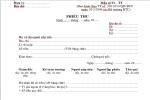 Mẫu phiếu thu theo thông tư số 200/2014/ TT – BTC