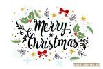 Tải vector giáng sinh chữ Merry Christmas đẹp cho Designer