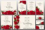 Download vector mẫu thiệp cưới hoa hồng hiện đại, sang trọng
