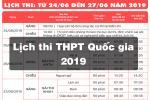 Lịch thi THPT Quốc gia 2019 - Chính thức từ Bộ Giáo dục