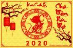 Chia sẻ PSD chúc mừng năm mới 2020 đẹp chào xuân Canh Tý