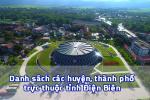 Danh sách các huyện, thành phố trực thuộc tỉnh Điện Biên 2020