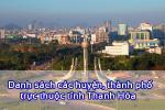 Danh sách các xã, thành phố trực thuộc tỉnh Thanh Hóa 2020