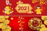Ảnh bìa tết 2021, cover facebook chúc Tết Tân Sửu 2021 đẹp ý nghĩa
