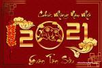 Chia sẻ bộ thiệp Tết 2021 chào xuân Tân Sửu đẹp lung linh nhất