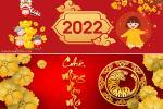 Ảnh bìa tết 2022, cover facebook chúc Tết Nhâm Dần 2022 đẹp ý nghĩa