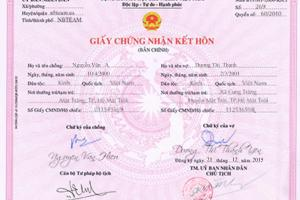 Chia sẻ file PSD giấy chứng nhận đăng ký kết hôn