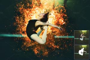 Chia sẻ Action  Photoshop Creativemarket - Fire Effect