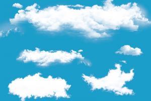Bộ source đám mây trang trí ảnh ấn tượng