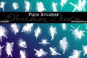 Chia sẻ bộ Photoshop Brush các nàng tiên bé bỏng