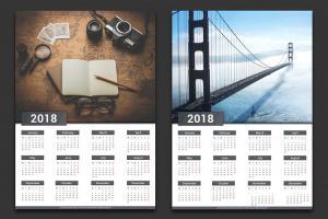 Bộ lịch 2018 PSD tải miễn phí
