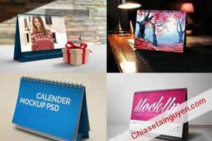 Share - Bộ lịch Calendars 2018 để bàn Mockup  mẫu đẹp