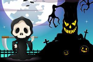 Chia sẻ banner, vector Halloween 2017