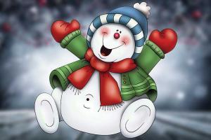 Bộ vector người tuyết ngộ nghĩnh đón giáng sinh
