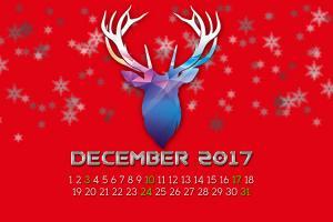 Cùng chào đón giáng sinh cùng bộ lịch tháng 12/2017 mới nhất