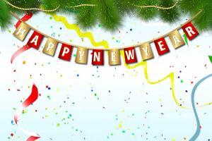 Chia sẻ bộ clipart Happy New Year cho các thiết kế đón năm mới