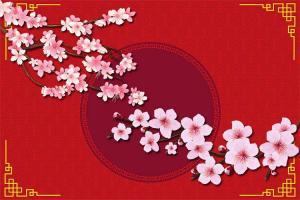 Bộ vector clipart hoa đào Tết chất lượng cao miễn phí