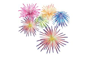 Chia sẻ file hình ảnh pháo hoa png để thiết kế banner năm mới 2018