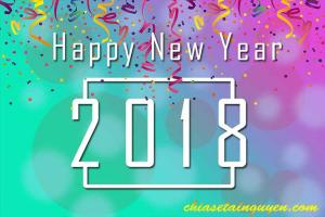 Chia sẻ file PSD bộ thiệp Happy New Year 2018