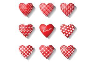 Tải bộ vector trái tim để thiết kế banner chủ đề tình yêu