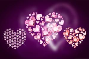 Chia sẻ bộ vector hình trái tim bằng đá quý