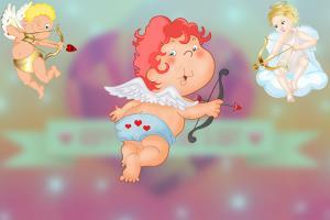 Bộ clipart thần tình yêu Cupid dành cho thiết kế về Valentine