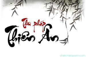 Font chữ thư pháp UTM Thiên Ân uốn lượn tuyệt đẹp