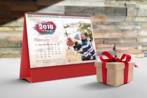 Chia sẻ bộ PSD thiết kế lịch để bàn 2018  đủ 12 tháng