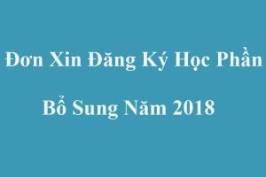 Đơn xin đăng ký học phần bổ sung chuẩn nhất năm 2018