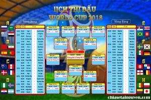 Chia sẻ PSD lịch thi đấu chi tiết  World Cup 2018