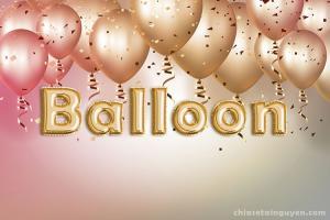 Chia sẻ file PSD hiệu ứng bóng bay trang trí foil balloon