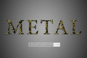 Chia sẻ file PSD hiệu ứng chữ Metal Black Gold phong cách sang trọng