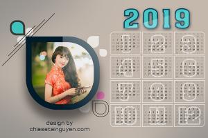 Chia sẻ file PSD lịch 2019 - Tải lịch 2019, lịch năm mới 2019 đẹp nhất