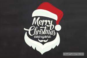 Dowload vector giáng sinh, chữ Merry Christmas ông già Noel độc đáo