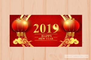 Free Download Banner, Vector chúc mừng năm mới 2019
