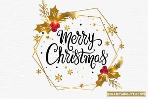 Vector giáng sinh FREE - Tải vector chữ Merry Christmas đẹp nhất