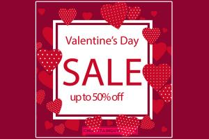 Chia sẻ vector background Valentine's Day Sale Free đẹp mới nhất