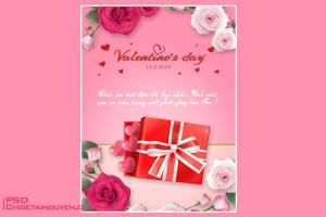 Share PSD thiết kế thiệp valentine đẹp ý nghĩa nhất cho người yêu