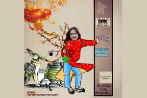 Free PSD ghép mặt vào ảnh Tết- Ảnh chế Tết 2020 hài hước cực đẹp
