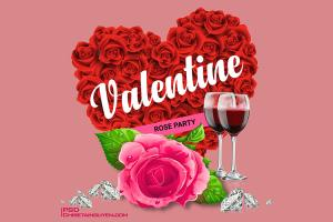 Share PSD banner, background nền chúc mừng Valentine 2019