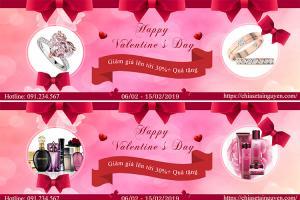Mẫu PSD banner quảng cáo cho Valentine 2019 chuyên nghiệp nhất