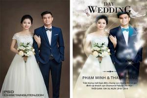 PSD thiệp cưới - Download mẫu poster thiệp cưới hiện đại đẹp lung linh
