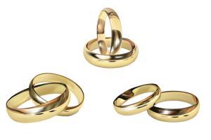 Nhẫn cưới Vector - Tải vector nhẫn cưới vàng đẹp lãng mạn