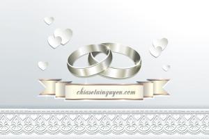 Chia sẻ Vector thiệp cưới ren với ruy băng đẹp lãng mạn, tinh tế