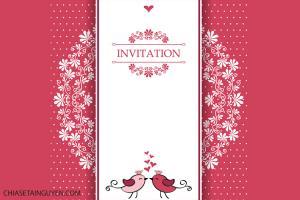 Chia sẻ vector thiệp mời đám cưới đẹp lãng mạn 2019